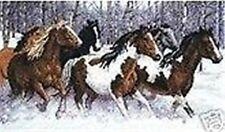 "NEW Cross Stitch Kits"" snow horse """