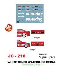 JC218 White Toner Waterslide Decal > SUPRE CAR > For Custom 1:64 Hot Wheels