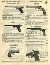 1929 PAPER AD Mossberg Brownie 4 Shot Pistol H&R Handy Gun Colt Automatic