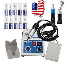 Dental MARATHON Handpiece 35K Rpm Electric Micromotor polisher &10 Burs USA ! CE