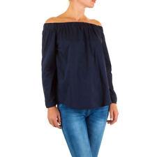 M Langarm Damenblusen, - tops & -shirts ohne Kragen