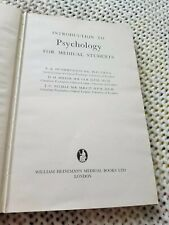 HETHERINGTON INTRODUCTION TO PSYCHOLOGY FOR MEDICAL STUDENTS, first edition 1964