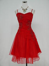Cherlone Rot Cocktailkleid Party Ballkleid Abendkleid Brautjungfer Kleid 44