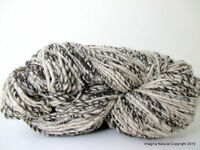 Hand Spun Undyed Non treated Pure Chilean Araucana Wool Knitting Yarn Handmade B