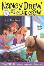 Pony Problems (Nancy Drew and the Clue Crew #3)-ExLibrary