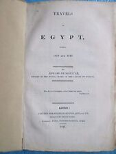 MONTULE : TRAVELS IN EGYPT during 1818 and 1819, 1821. 10 planches HT