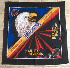 Vintage Harley Davidson American Legend Eagle Bandana Handkerchief New Black