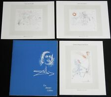Vtg Salvador Dali Europa Bull Caesar and Cleopatra Miniature Small Glossy Prints