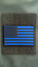 Blue Line US Flag 2 dimensional PVC Subdued Patch