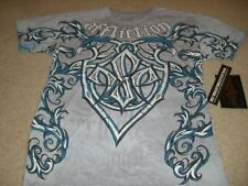 AFFLICTION MENS GEORGES ST PIERRE SIGNATURE SHIRT S