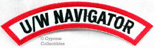 U/W NAVIGATOR CHEVRON - SCUBA DIVING iron-on DIVE PATCH embroidered applique