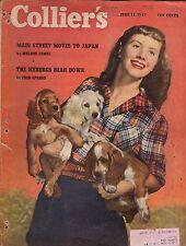 1947 Colliers June 14-Cocker Spaniels; Byrd Antarctic Expedition; Bullfighting