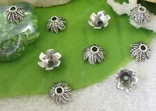 100pcs Tibetan silver leaf bead caps FC9396