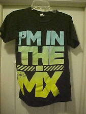 """Juniors S/P Solid Black T-Shirt By Tultex """"In The MIX"""" 100% Cotton Short Sleeves"""