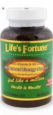 Life's Fortune Multi Vitamin Mineral Natural Energy 90 Tab Free fast Shipping
