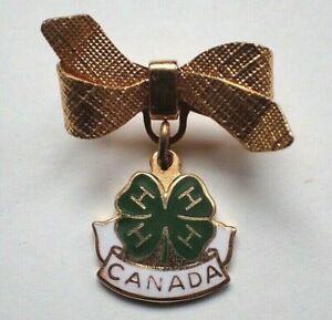 Vintage 4H Canada Brooch / Lapel Pin
