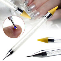 Manicure Art Tool Crystal Rhinestone Gem Picker Wax Dual Ended Nail Dotting Pen
