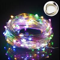 10m/33ft USB LED Lichterkette Kupferdraht 100 LEDs Wasserdich Mehrfarbig Xmas