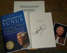 muhammad yunus autographed book photos world peace leader collectible