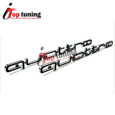 Black Large Quattro Emblem Decal Sticker Logo for Audi A4 A6 A7 A8 RS3 RS4 Q5 TT