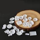 33Pcs Miniature 1/12 Scale Dollhouse Tableware Kitchen Plastic Plates Kids Set