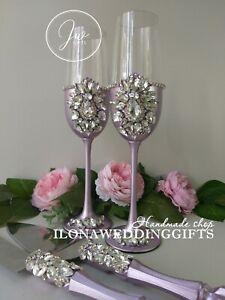 Swarovski Crystal Personalized Wedding Toast Glass Sparkle Romantic Boho Votive