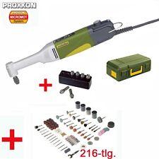 Proxxon micromot multi herramienta largo cuello ángulo taladradora LWB/e + 216 piezas de accesorios