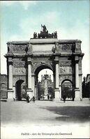 Paris France CPA ~1914-18 Partie am Arc de Triomphe du Carroussel Triumpfbogen