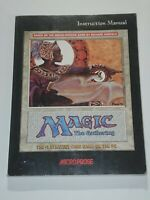 MANUAL ONLY Instruction Book Magic the Gathering Microprose Vintage PC Game 1997