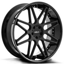 "4ea 24"" Azad Wheels AZ77 Matte Black Center with Gloss Black Lip Rims(S1)"