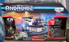 ANDROIDZ 2010 POLICE FORTRESS BONUS SET W/VEHICLE & 3 ROBOTS TOYS R US EXCLUSIVE