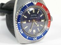 New Custom Bezel for Vostok Amphibian Watch Seiko Red Blue Pepsi Insert #2