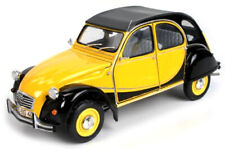 CITROËN 2CV CHARLESTON Yellow / Black 1982 WELLY 1:24 / NEW