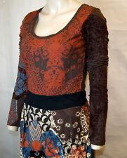 Brand New Desigual collection Elegant & Stylish brown dress Medium RRP £59