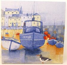 NAUTICAL Boat Harbour Seaside Town Chic Vintage Shabby Picture Plaque Home Art