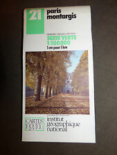 Carte IGN verte 21 paris montargis   1988