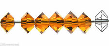 36 Czech MC Spacer Beads (Squished Diamond shape 5305) 3x5mm, Topaz color