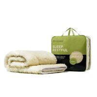 MiniJumbuk Sleep Restful Mattress Topper 100% Australian Wool & Made