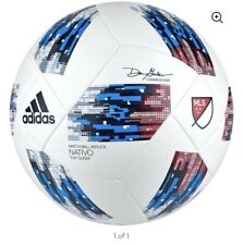 adidas Performance 2018 Mls Top Glider Soccer Ball, White/Blue, Size 4 No Box