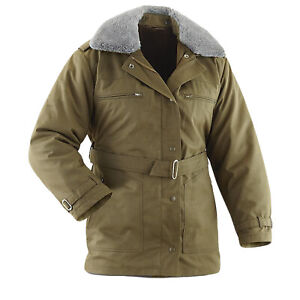 Czech Army Military Cadet Winter Parka Olive Drab Unused Army Jacket