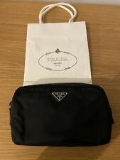 Authentic PRADA Nylon Pouch/Cosmetic Pouch-Black Authenticate First