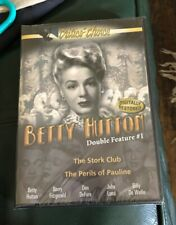 Betty Hutton 2-in-1 (DVD Movie) Stork Club / Perils of Pauline Sealed NEW