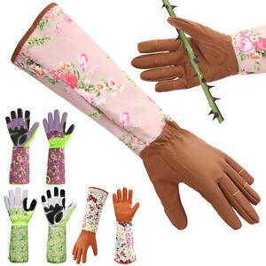 Ladies Elbow-length Gardening Gloves Gauntlet Rose Pruning Thorn Puncture Proofs
