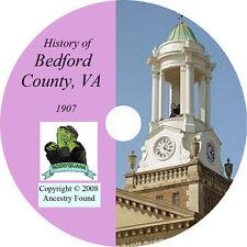 1907 BEDFORD County Virginia VA - History & Genealogy - Ancestry  - CD DVD