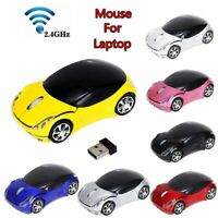2.4GHz 3D Car Shape Wireless Mouse USB Receiver Optical Gaming LED Lighting