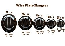 Wall Display Plate Dish Disk White Wire Spring Hanger Holder Hangers   0 1 2 3 4