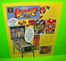 Dr Dude Pinball FLYER 1990 Original Flipper Game Promo Art Sci-Fi Humor Bally