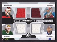 2012-13 SP Game Used Authentic Fabrics Quad #AF4-RBJB Brodeur/Roy/Belfour/Joseph