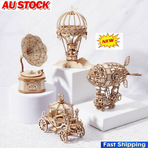 3D Wooden Puzzle Jigsaw Wood Craft Model Toy Kit Adults Kids DIY Educational Toy