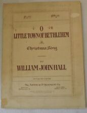 O Little Town of Bethlehem Sheet Music by William John Hall for Piano and Voice